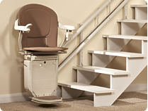 Sabre Twin Track curved stairlift