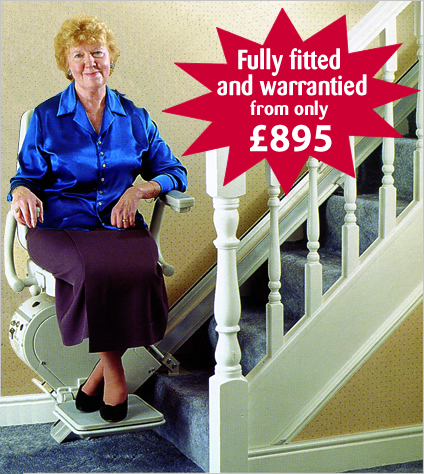 Bison refurbished straight stairlift